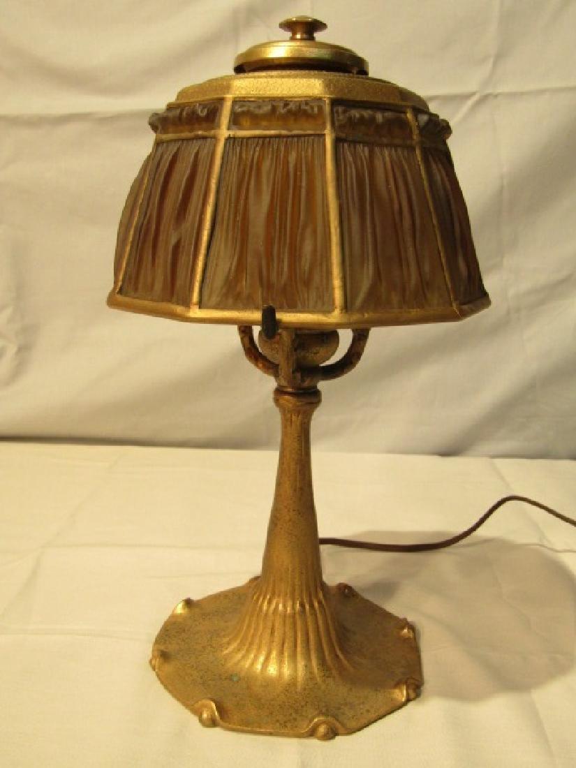 TIFFANY STUDIOS #606 LINEN SHADE LAMP
