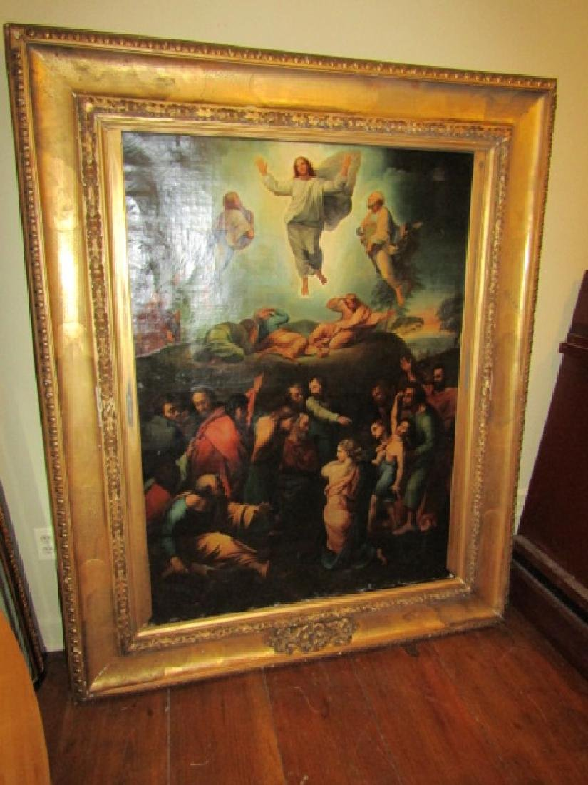 LARGE OLD MASTER RELIGIOUS OIL PAINTING TRANSFIGURATION