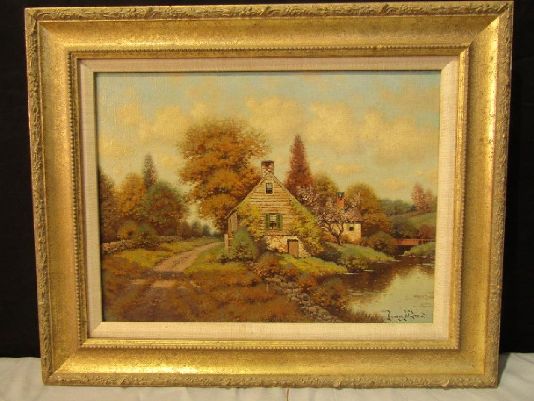 GEORGE DREW OF CONN. OIL PAINTING NEAR GREENWICH