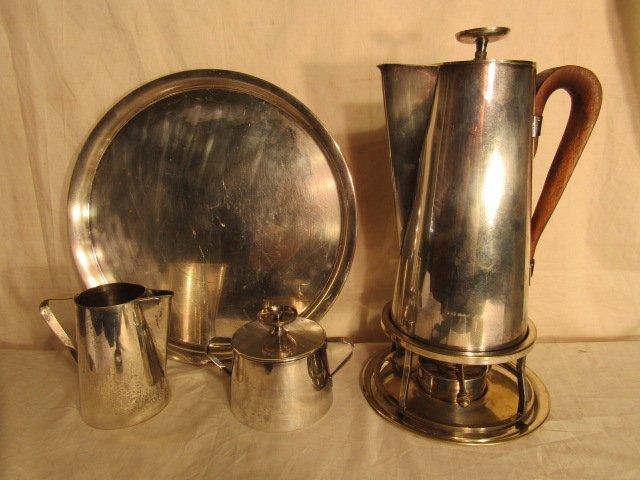 TOMMI PARZINGER MID CENTURY MODERN SILVER TEA SET