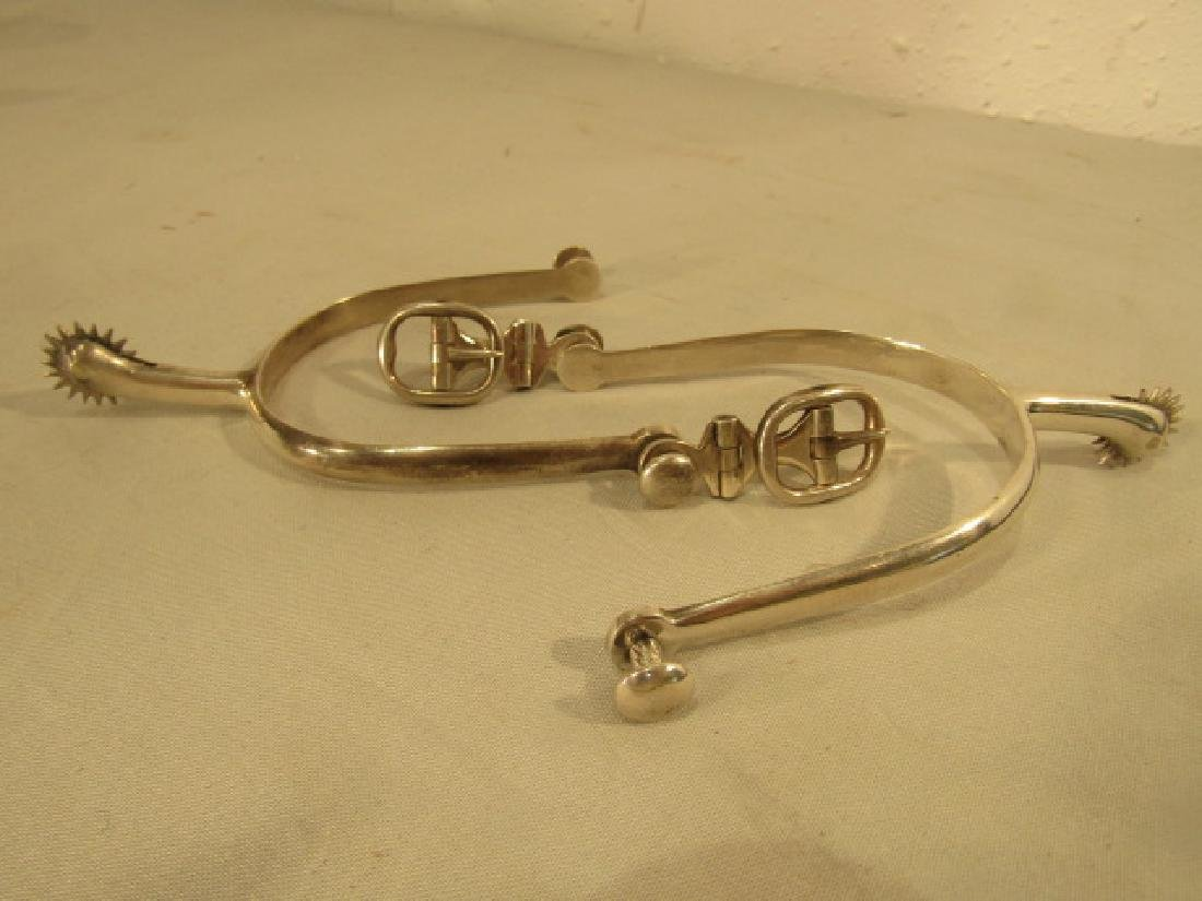 CASED PAIR SILVER SPURS 1865 - 2