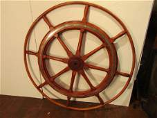 LARGE ANTIQUE SHIP'S WHEEL 48 INCH