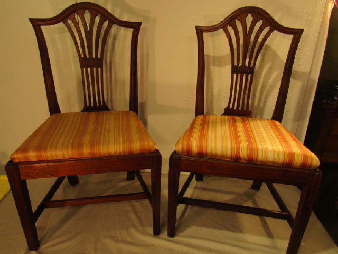 SET 10 ANTIQUE DINING CHAIRS
