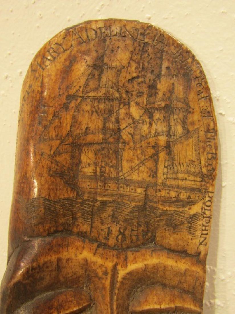 1852 SLAVE SHIP BONE PLAQUE - 2