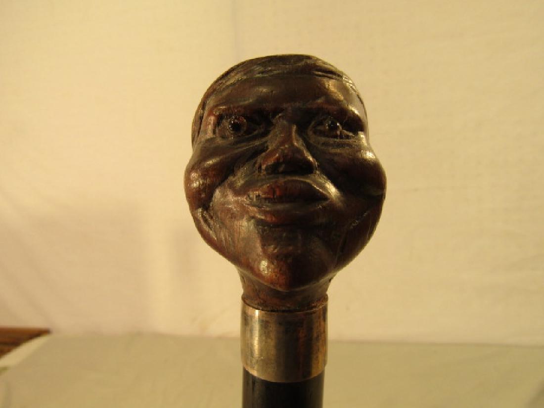 FOLK ART BLACK MAN CANE - 3