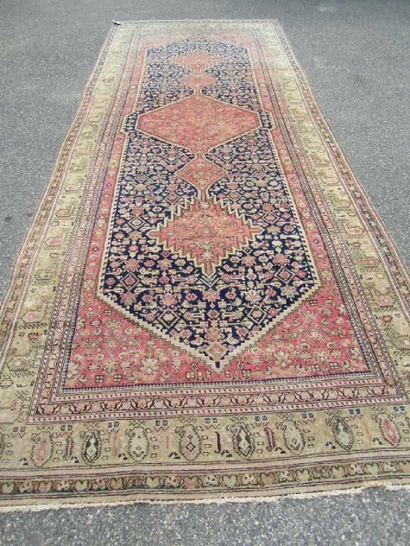 ANTIQUE HAMADAN CORRIDOR RUG