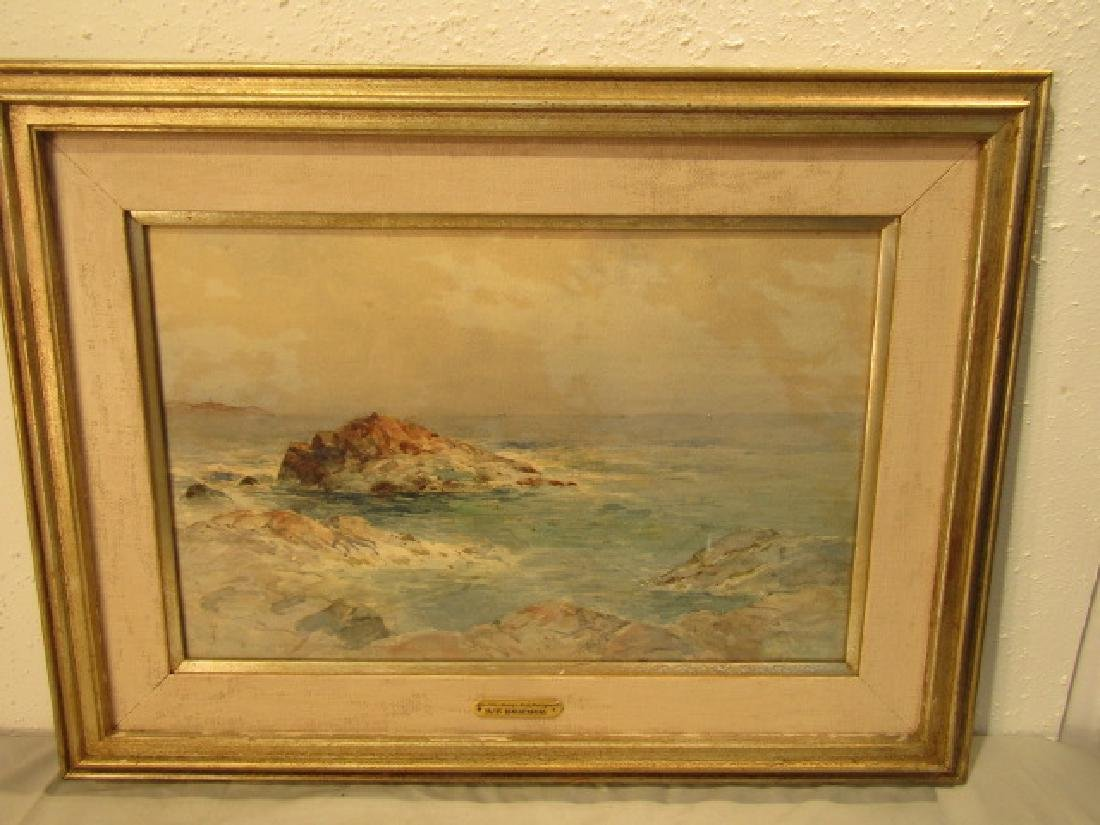 AT BRICHER SEASCAPE PAINTING
