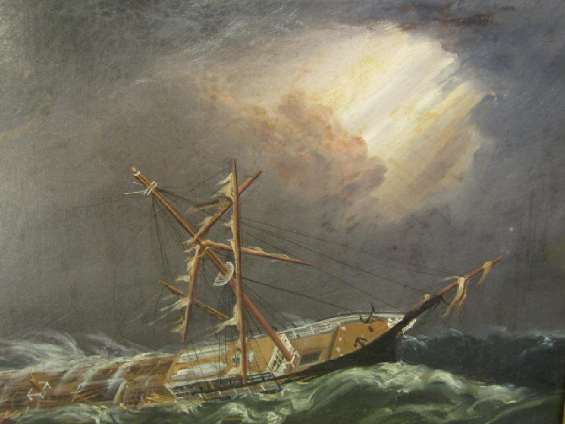 19TH C. SHIPWRECK PAINTING - 2