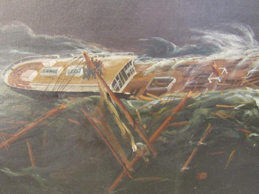 19TH C. SHIPWRECK PAINTING - 3