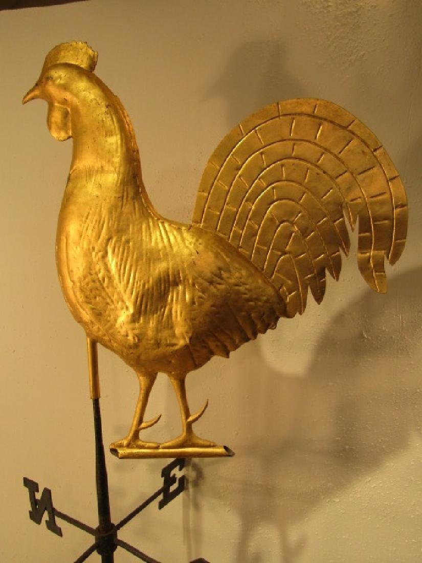 ANTIQUE  ROOSTER WEATHERVANE - 2