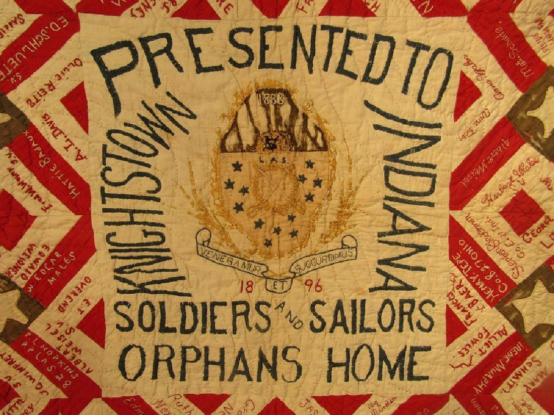 1896 SIGNATURE QUILT SOLDIER ORPHANS - 2