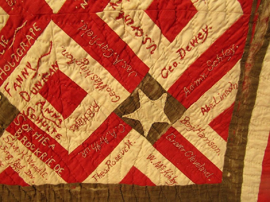 1896 SIGNATURE QUILT SOLDIER ORPHANS - 3