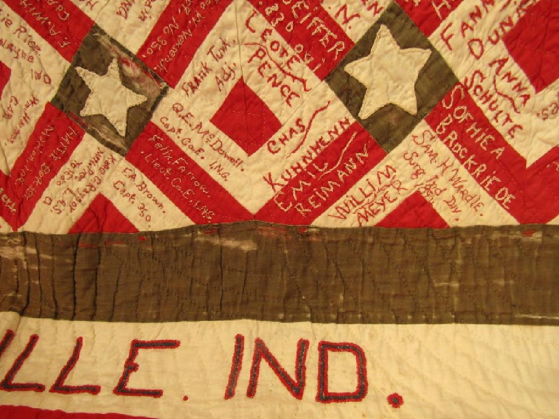 1896 SIGNATURE QUILT SOLDIER ORPHANS - 4