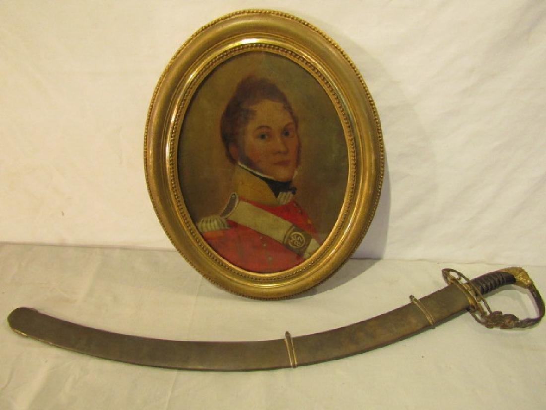 WAR 1812 SWORD & BATTEN PAINTING