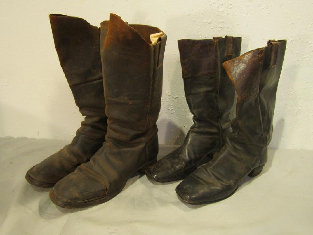 2 PAIR CIVIL WAR CAVALRY BOOTS