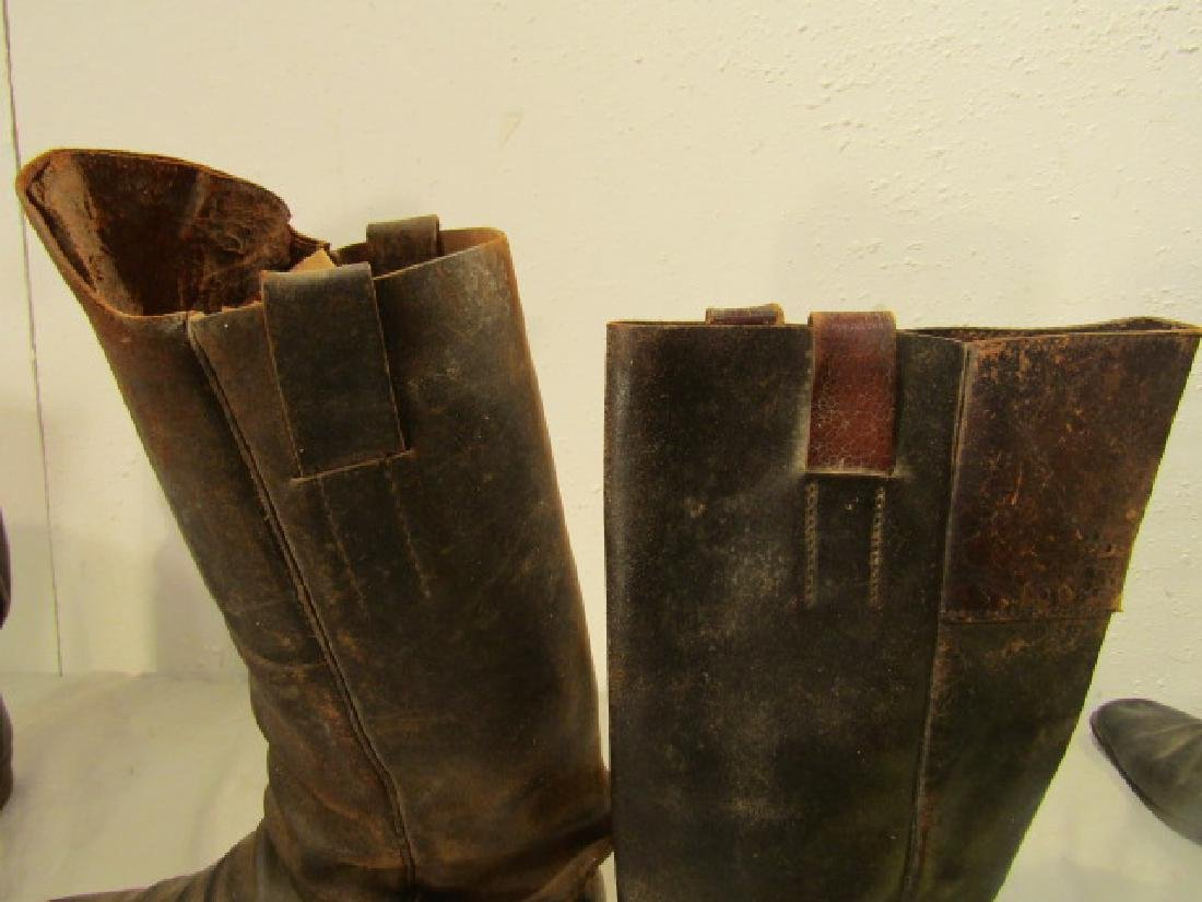 2 PAIR CIVIL WAR CAVALRY BOOTS - 2