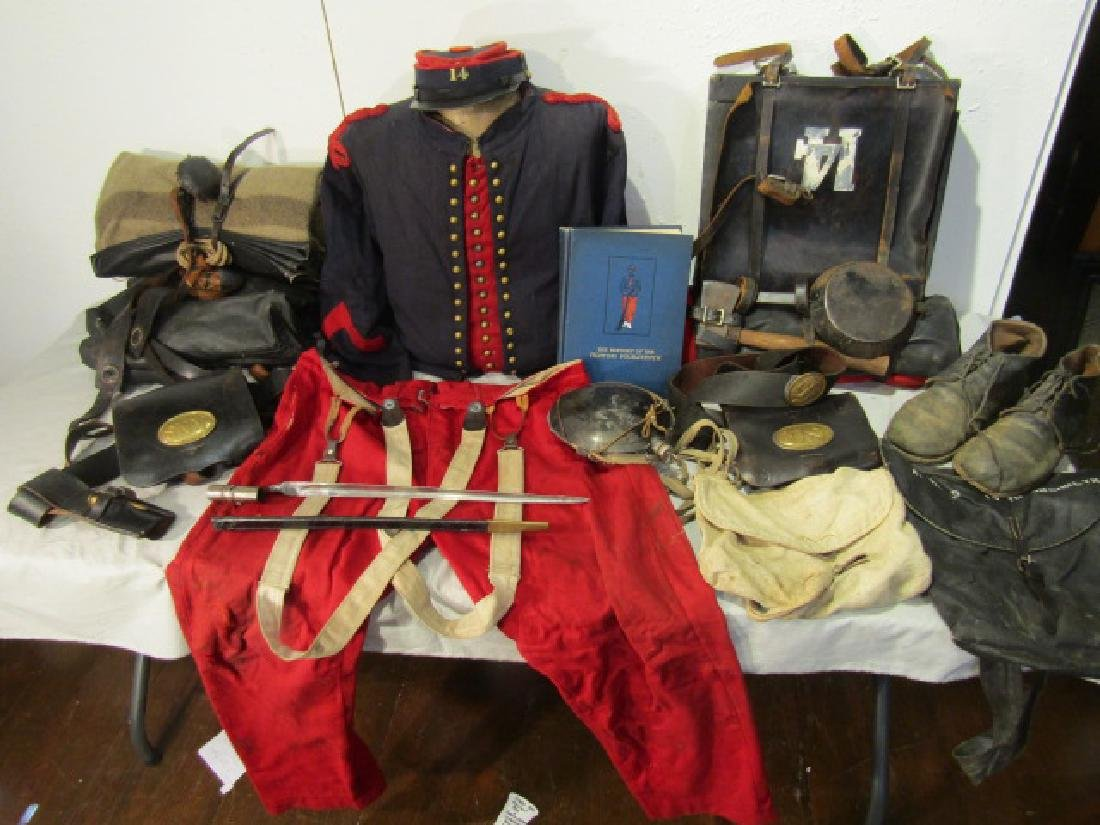 COMPLETE CIVIL WAR ZOUAVE OUTFIT & GEAR