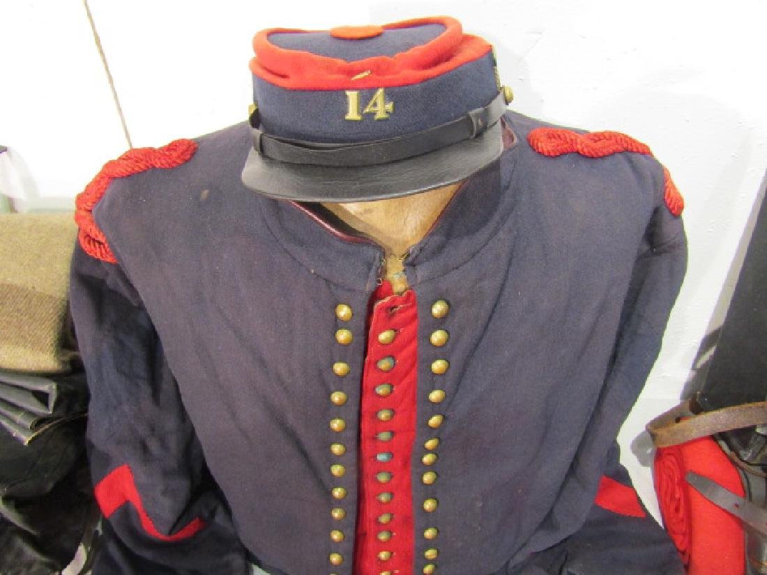 COMPLETE CIVIL WAR ZOUAVE OUTFIT & GEAR - 4