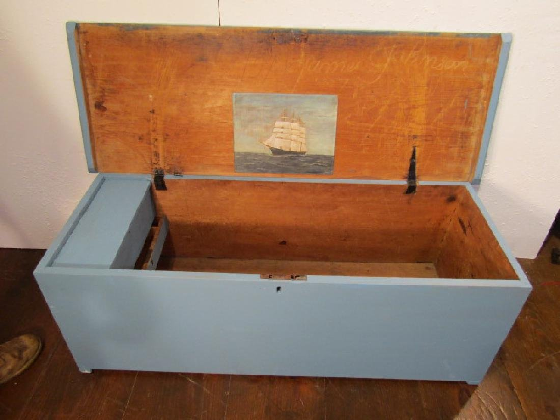 1807 SEAMAN'S BLUE CHEST
