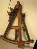 LARGE ANTIQUE SEXTANT TRADE SIGN