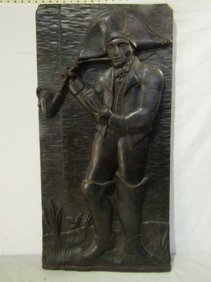REVOLUTIONARY WAR SOLDIER WOOD SIGN