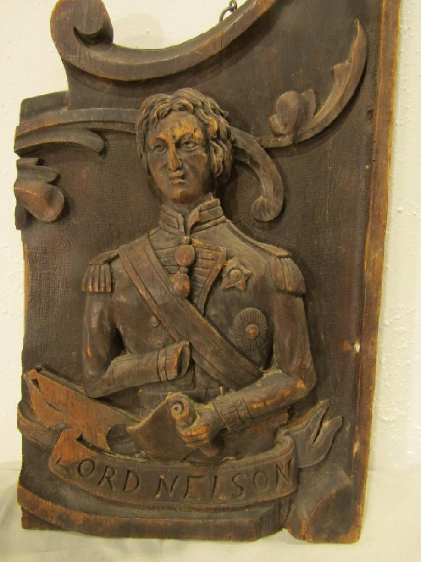 LORD NELSON WOOD SIGN PLAQUE - 2
