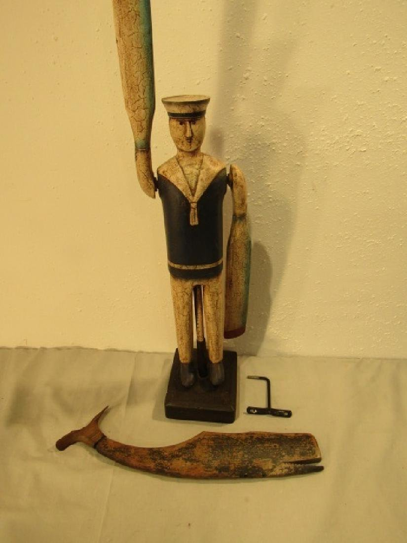 LINCOLN SEELY WHALE WHIRLIGIG & SAILOR