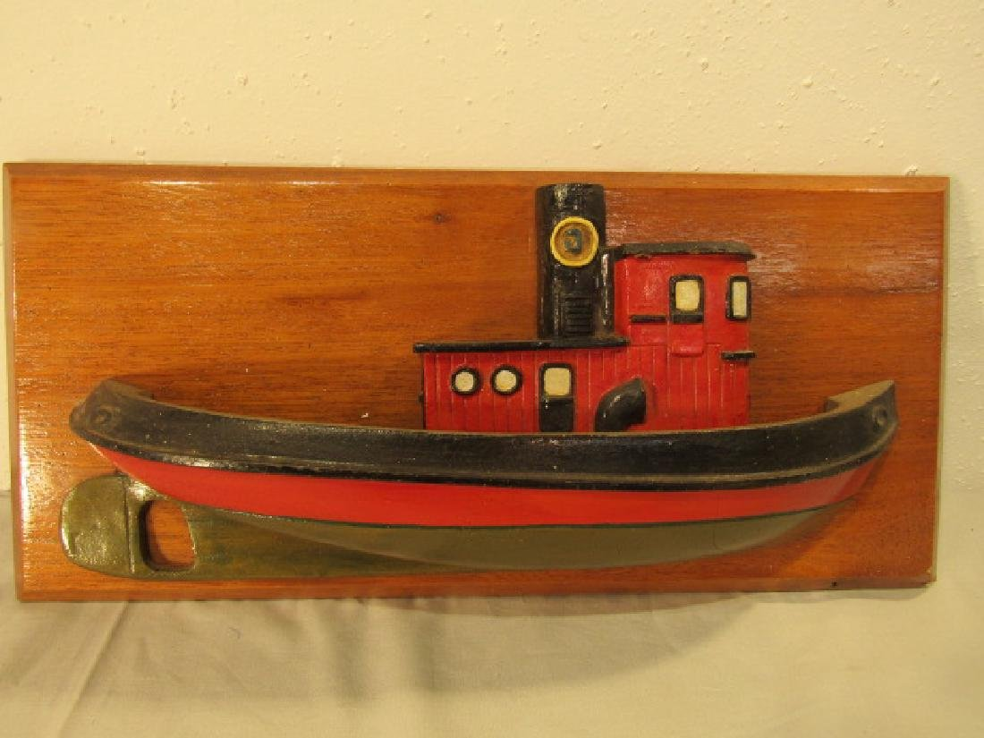 WOOD TUGBOAT HALF HULL MODEL
