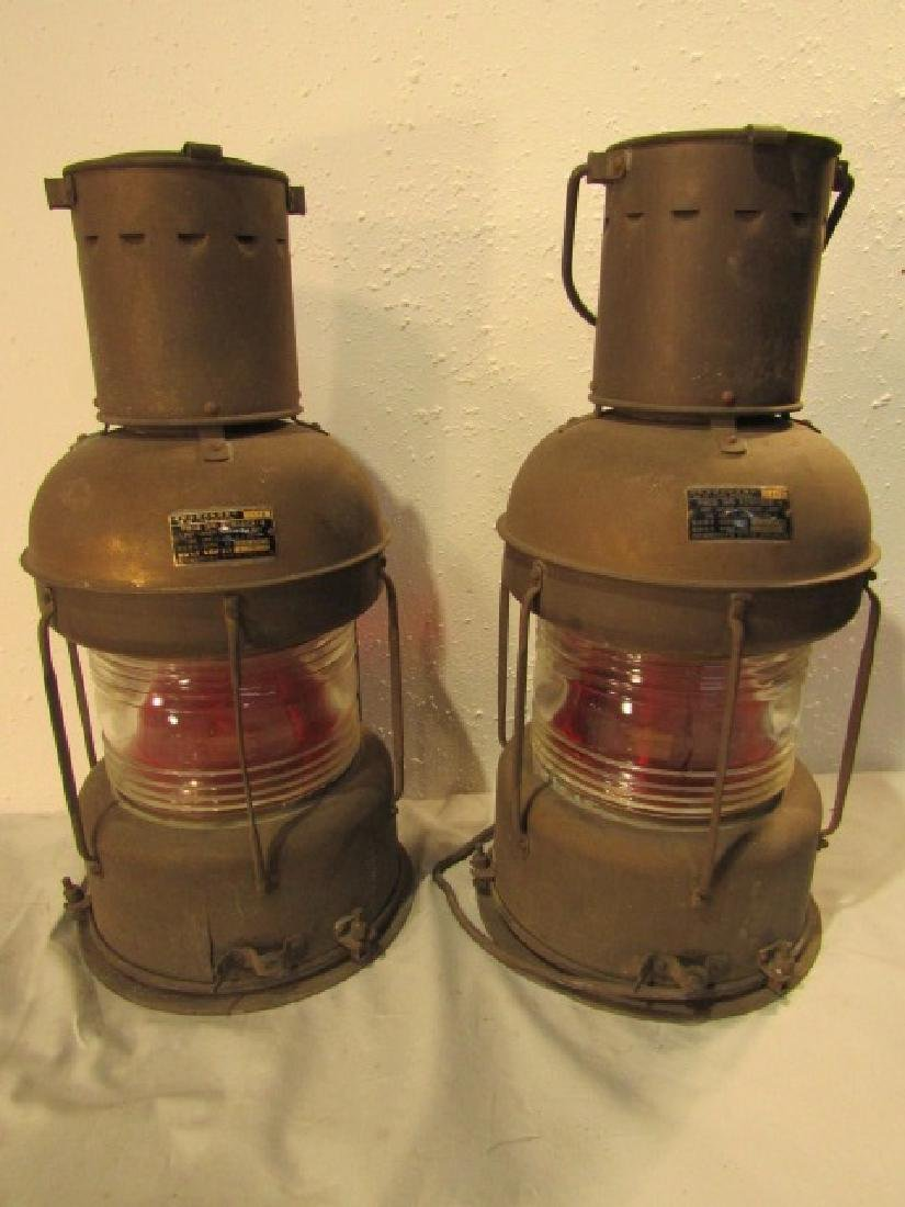 PAIR 21 INCH ANCHOR LANTERNS