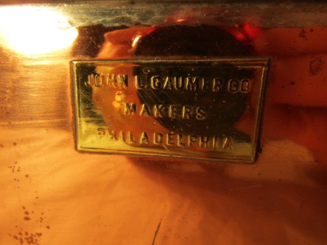 GAUMER SHIP'S STOVE & 3 COPPER KETTLES - 2