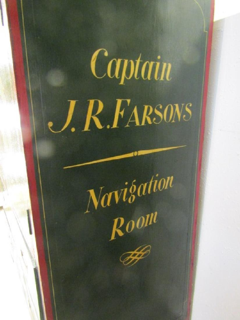 PAINTED WOOD CAPTAINS CHART CASE - 2