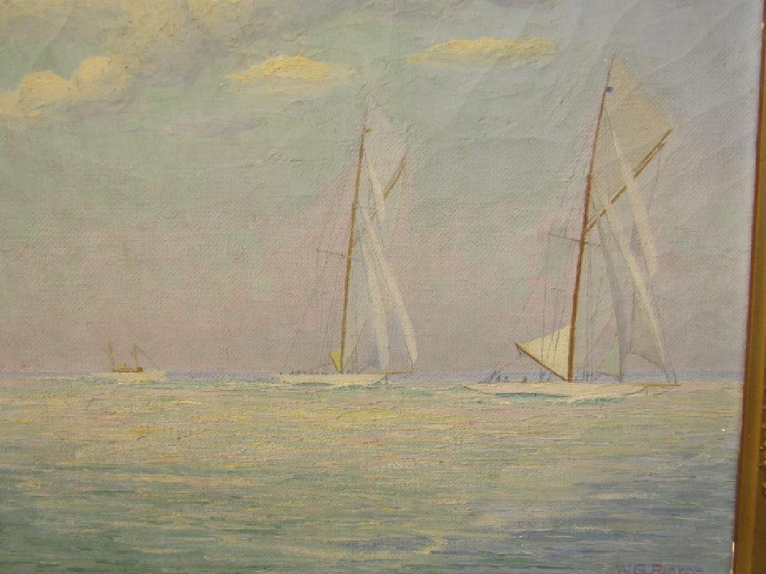 WG PIERCE 1925 SEASCAPE PAINTING - 2