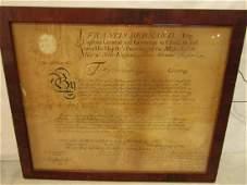 1765 BRITISH COMMISSION IN MASS.