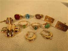ASSORTED LOT GOLD RINGS  JEWELS