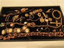 LOT GOLD  GF VICTORIAN JEWELS