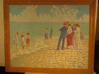 HARRY BENSON LARGE BEACH PAINTING