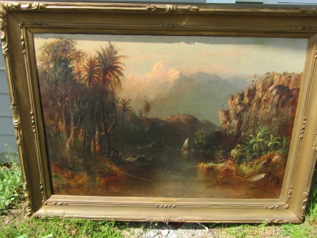 FREDERIC CHURCH LARGE ANDES PAINTING