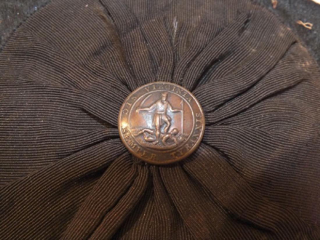 VIRGINIA MILITIA HAT IN TIN BOX - 3