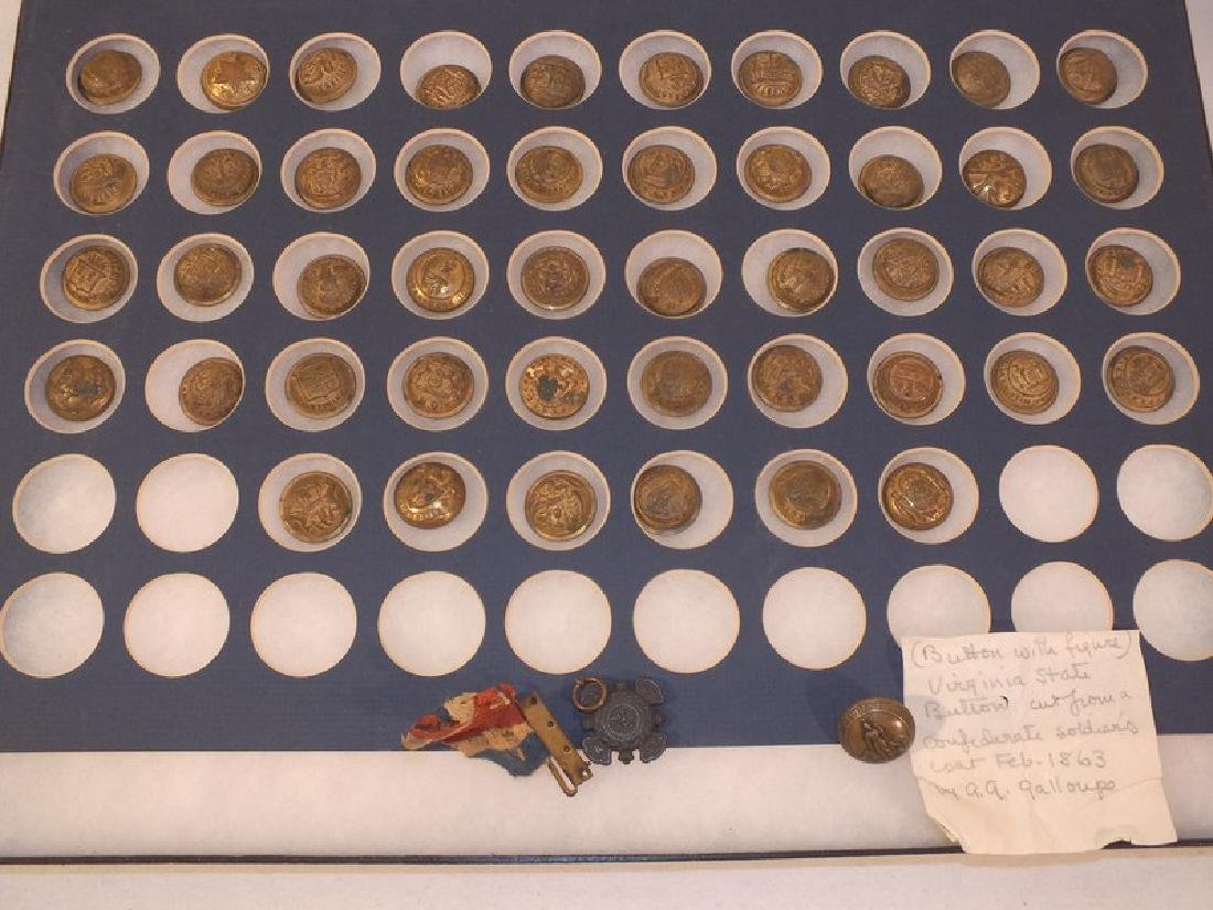 46 MILITARY FRAMED BUTTONS