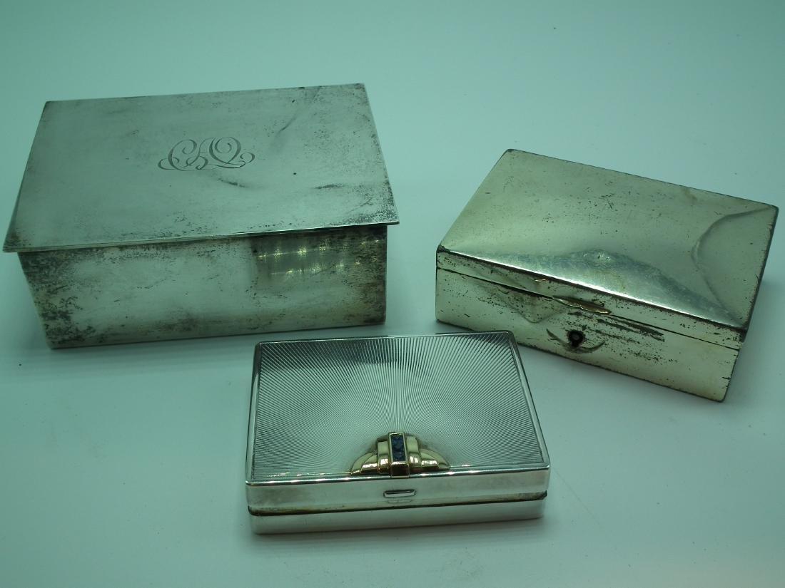 TIFFANY STERLING COMPACT & BOX