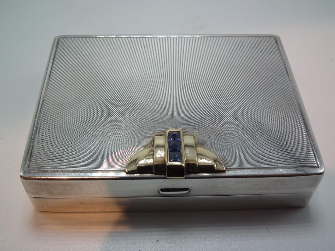 TIFFANY STERLING COMPACT & BOX - 2