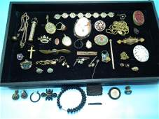VICTORIAN GOLD FILLED JEWELRY LOT