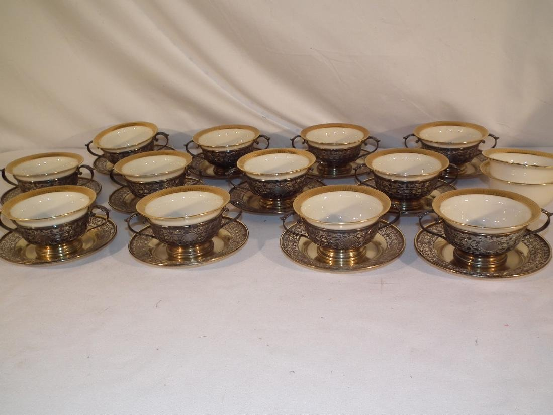 12 LENOX TIFFANY & SILVER BULLION CUPS