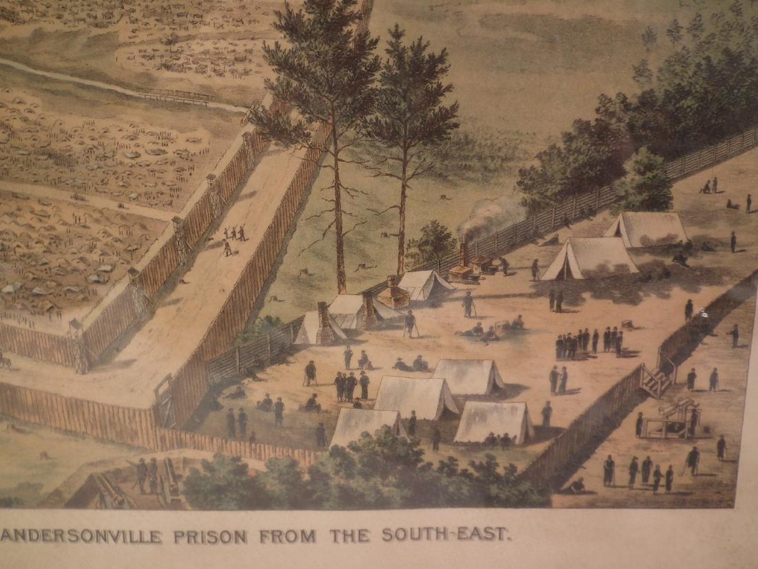 ANTIQUE ANDERSONVILLE PRISON PRINT - 3