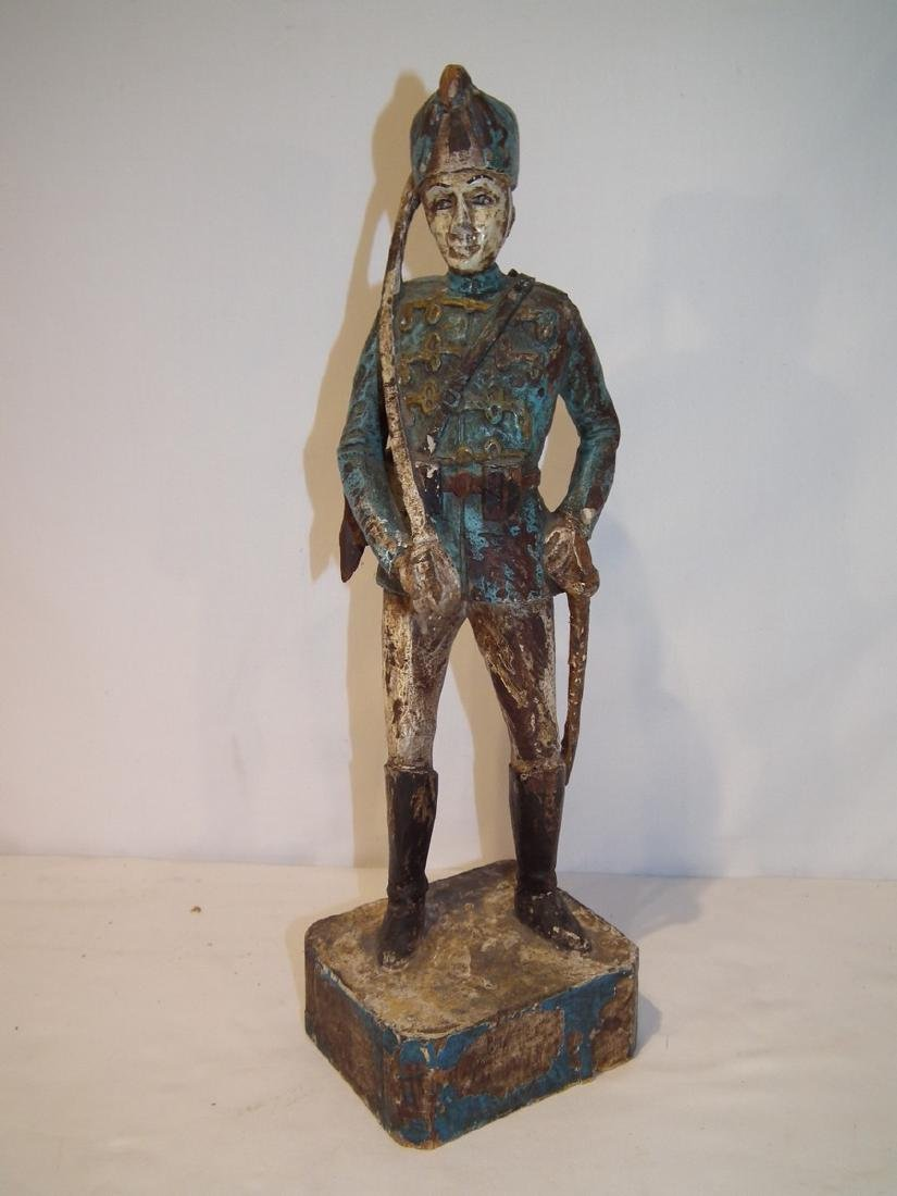 OLD CARVED WOOD HESSIAN SOLDIER