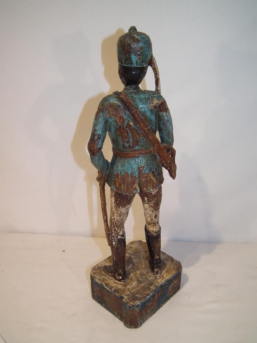 OLD CARVED WOOD HESSIAN SOLDIER - 3