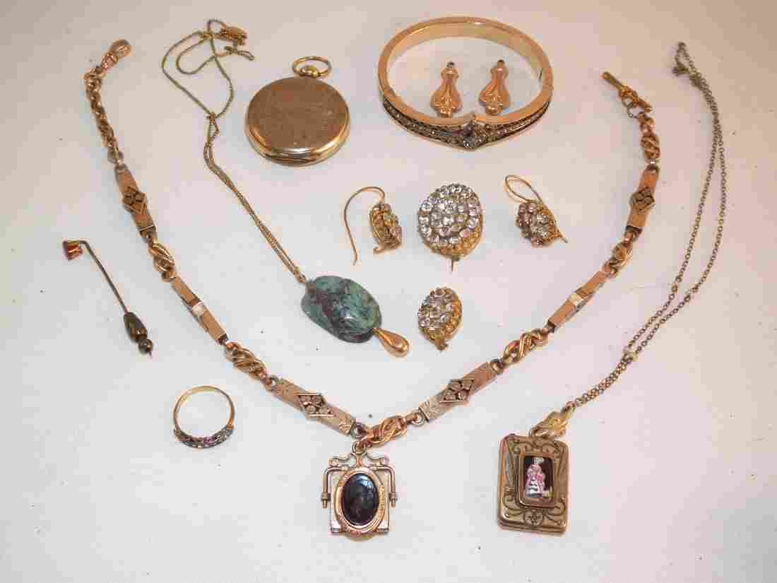 ANTIQUE GOLD FILLED JEWELRY