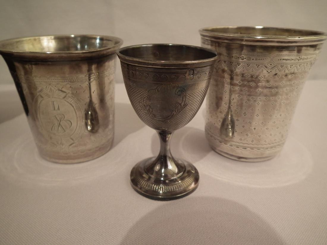 LOT STERLING CUPS - 2