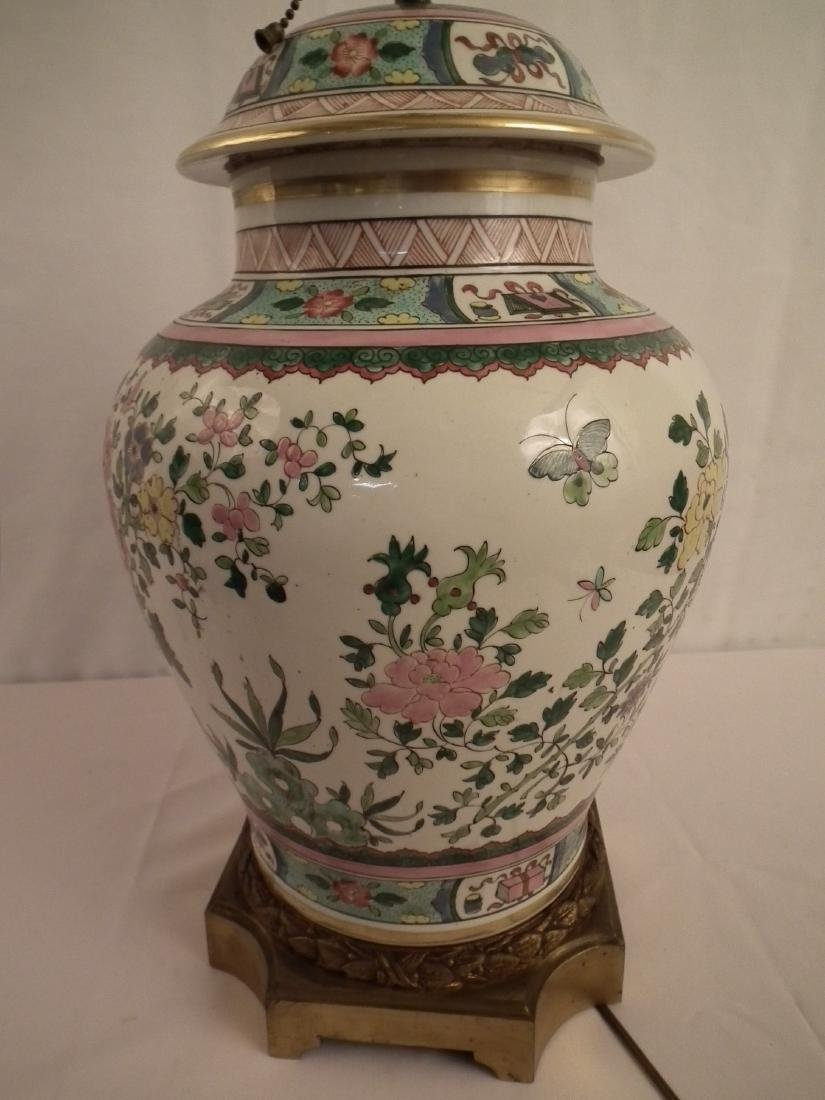 CHINESE GINGER JAR LAMP - 3