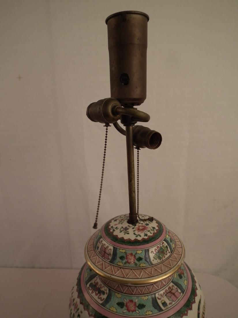CHINESE GINGER JAR LAMP - 5